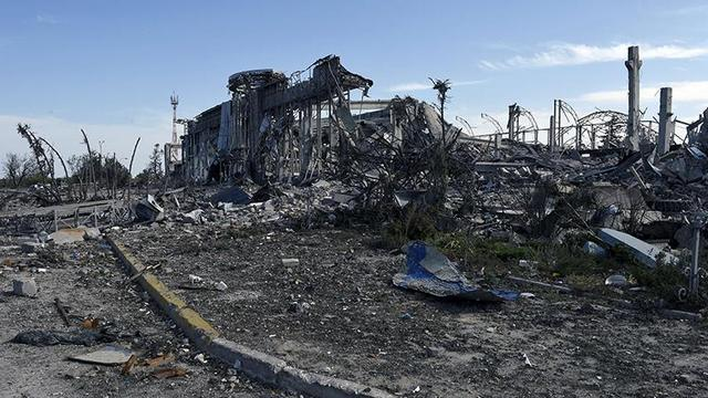 lughansk airport destroyed