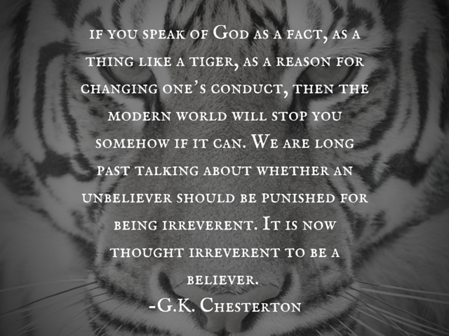 if you speak of God as a fact, as a (1)