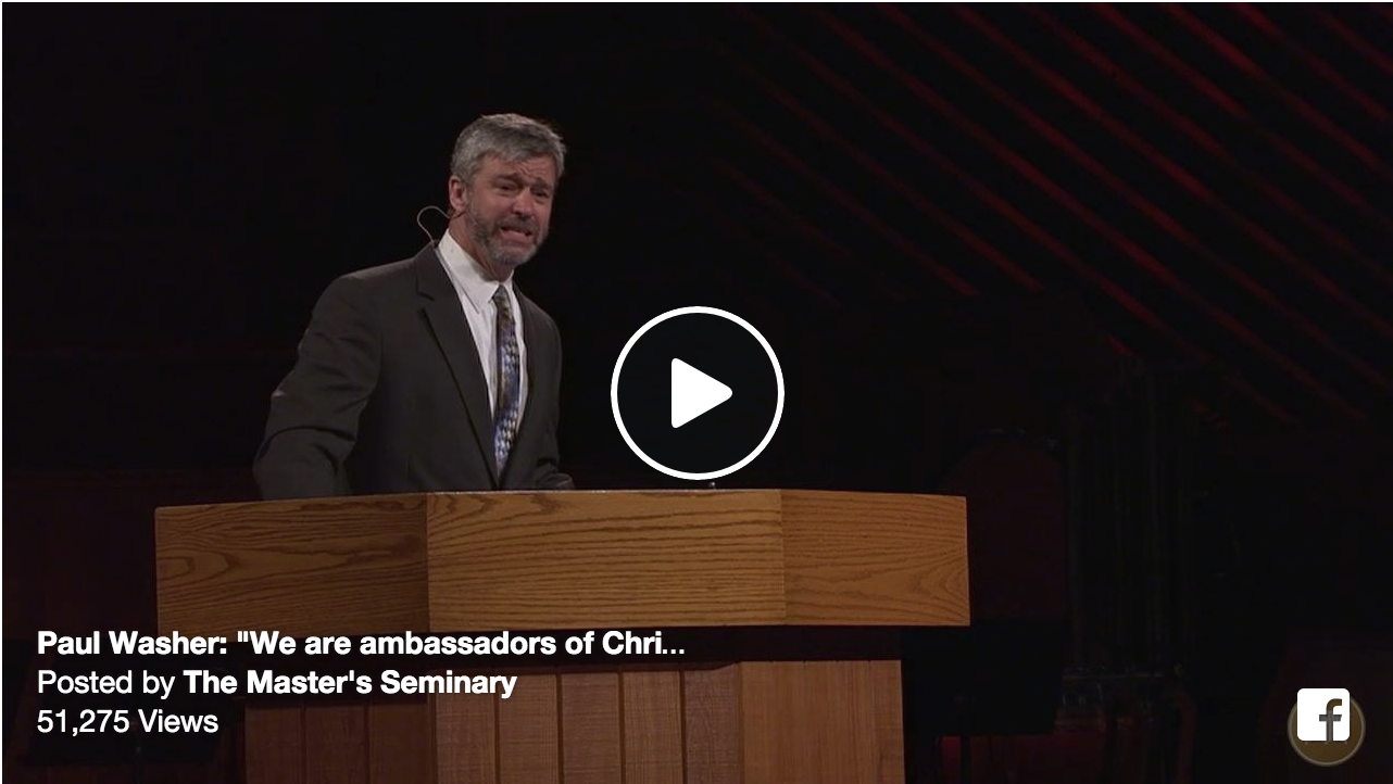 Paul Washer's Full Sermon from Shepherds' Conference 2016